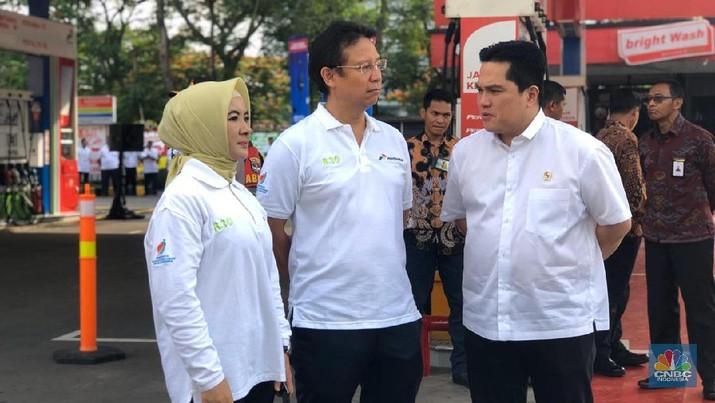 Menteri Badan Usaha Milik Negara (BUMN) Erick Thohir hadir dalam rapat kerja seluruh Kepala Perwakilan Republik Indonesia (Keppri).
