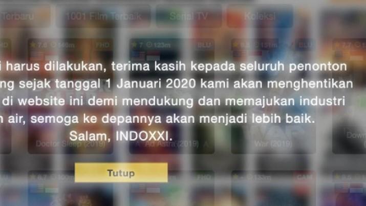 Layanan IndoXXI sudah tidak bisa diakses, film yang ada tidak bisa diputar.
