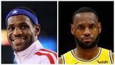LeBron James saat tampil di NBA All Star 2010 dikolasekan foto saat Los Angeles Lakers melawan Atlanta Hawks bulan ini. (Getty Images/Jed Jacobsohn/Kevin C. Cox/AFP)
