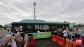 Dalam rangka menyambut libur akhir tahun, Pemerintah DKI Jakarta mengadakan acara Monas Week di dalam museum dan di kawasan Monas yang dimulai dari tanggal 24 hingga pergantian tahun 31 Desember 2019. (CNN Indonesia/Adhi Wicaksono)