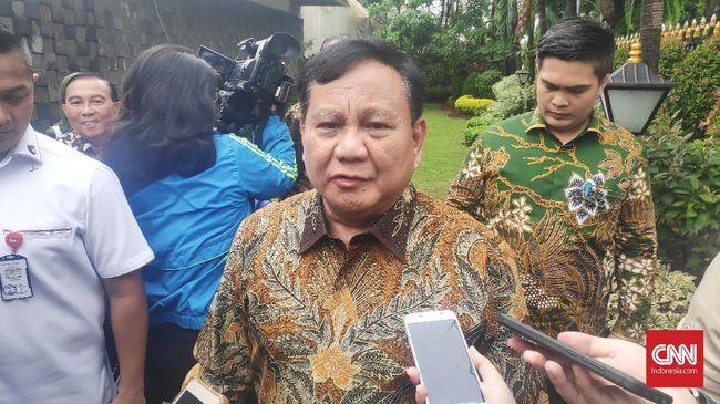 Sambangi Rumah Luhut, Prabowo Ucapkan Selamat Natal
