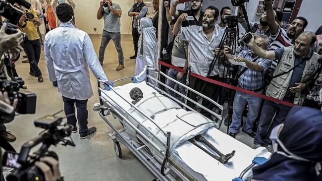 Mumi Sennedjem di Museum Nasional Peradaban Mesir,Kairo pada 21 September 2019. (Mohamed el-Shahed/AFP)