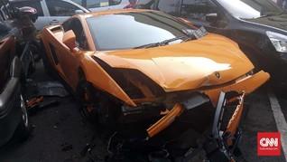 Nasib Lamborghini 'Koboi' Kemang: Tertabrak Pakai Pelat Palsu