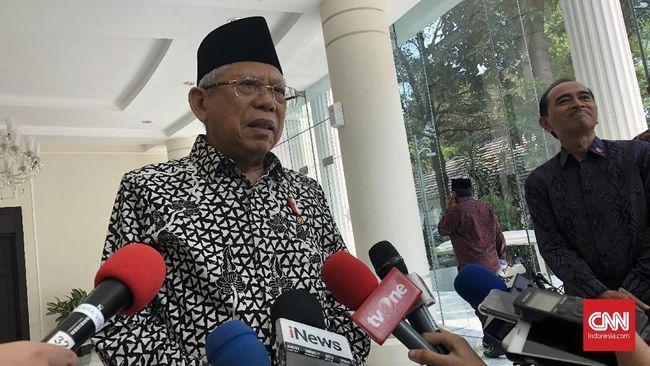 Ma'ruf Amin Bantah Papua Lockdown karena Corona