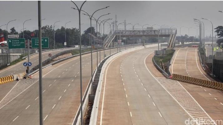 Tol Desari ruas Brigif-Sawangan/Foto: Lamhot Aritonang/detikcom