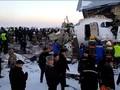 VIDEO: Pesawat Jatuh di Kazakhstan Tewaskan Belasan Orang
