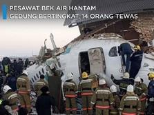 Pesawat Bek Air Hantam Gedung Bertingkat, 14 Orang Tewas