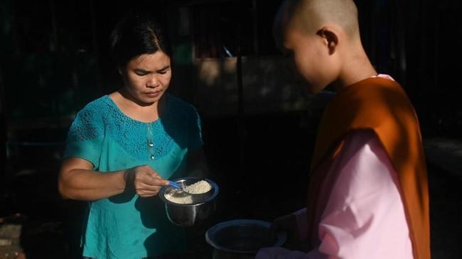 Wilayah perbatasan negara mayoritas Buddhis itu dilanda konflik sejak kemerdekaan, ketika pemberontak etnis bertempur melawan negara terkait otonomi dan sumber daya alam. (Ye Aung THU/AFP)