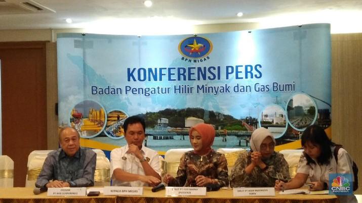 Badan Pengatur Hilir Minyak dan Gas Bumi (BPH Migas) menyerahkan SK Penugasan dan Kuota JBT serta Kuota JBKP tahun 2020.