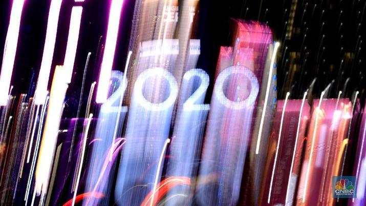 Sambut Pergantian Tahun 2020, Begini Penampakan Bunderan HI