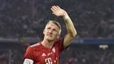 Pemain juara dunia 2014 bersama timnas Jerman, Bastian Schweinsteiger, memutuskan pensiun pada 8 Oktober 2019 usai memperkuat Chicago Fire di MLS. (Christof STACHE / AFP)