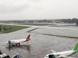 Banjir! Bandara Halim Lumpuh, Begini Penampakannya