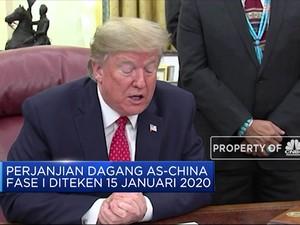Mantap! Damai Dagang As-China Diteken 15 Januari 2020