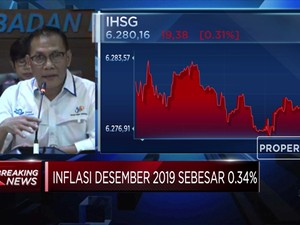 Mantap! Inflasi 2019 Terendah dalam 20 Tahun