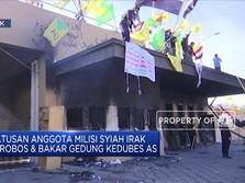 Ada Unjuk Rasa, Kedubes AS di Baghdad Dilumat Api