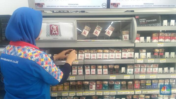 Harga rokok sudah naik di sejumlah toko dan minimarket di Jakarta, Kamis (2/1/2020).