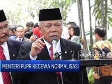 Menteri PUPR Kecewa Normalisasi Sungai Masih Separuh Target