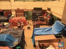 Pasar Tradisional di DKI Porak-Poranda Diterjang Banjir
