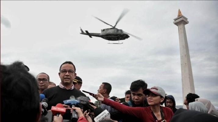 Demikian dikatakan Anies di Taman Puring, Jakarta Selatan, Senin (20/1/2020).