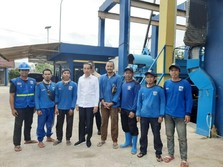 Tanpa Ditemani Anies, Jokowi Sidak Pompa Air Waduk Pluit