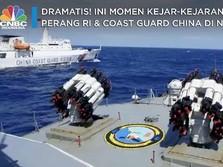 Sengit! Kapal Perang RI vs Coast Guard China di Laut Natuna