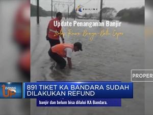 Akibat Banjir, Kereta Api Bandara Terganggu