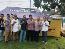 500 Pegawai Jadi Relawan, Bank Mandiri Bantu Korban Banjir
