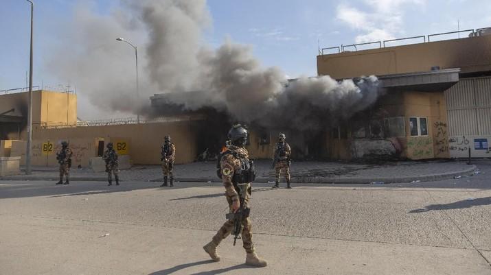 Lagi! Roket Hantam Kedubes AS di Irak