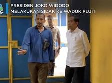 Momen Saat Jokowi Sidak Ke Waduk Pluit Tanpa Anies