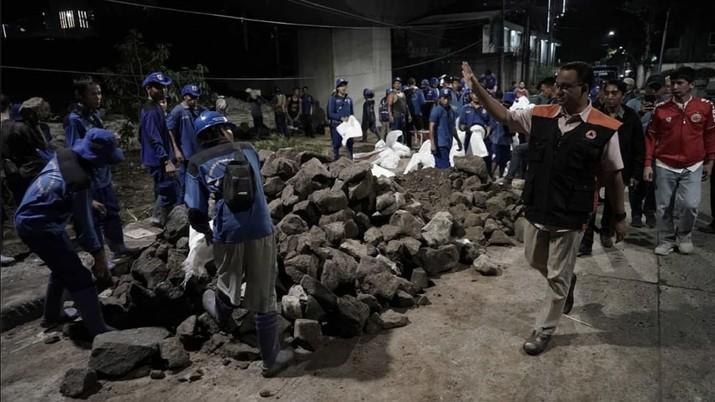 Gubernur DKI Jakarta Anies Baswedan menyebut 85% wilayah banjir sudah dapat dikendalikan