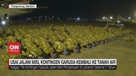 VIDEO: Usai Jalani Misi, Garuda TNI Kembali ke Indonesia