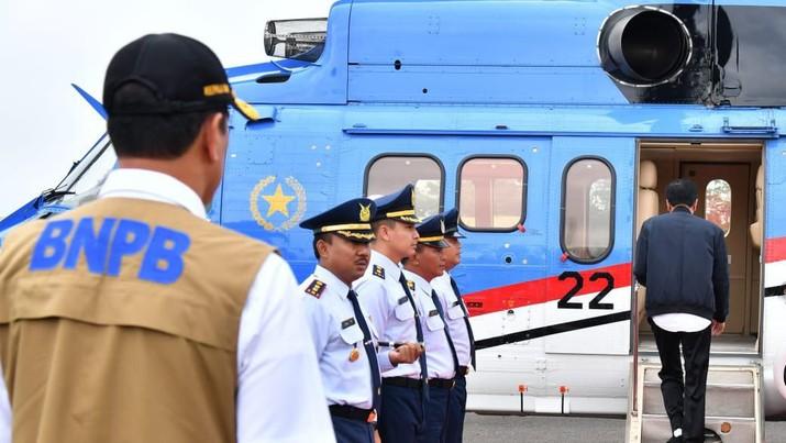 Cuaca Buruk, Helikopter Jokowi Tiga Kali Gagal Mendarat