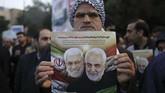 Pemerintah Iran telah mengumumkan tiga hari berkabung nasional sebagai respons terhadap kematian Soleimani.(HOSSEIN MERSADI / IRAN'S FARS NEWS AGENCY / AFP)