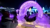 Festival Es dan Salju Harbin berlangsung hingga 25 Februari 2020. (NOEL CELIS / AFP)