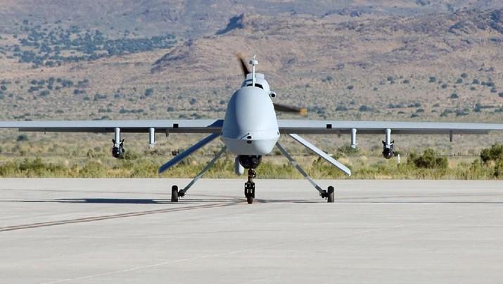 MQ-9 Reaper merupakan drone yang dipakai militer AS untuk operasi rahasia yang membunuh Jendral Iran Qasem Soleimani. Serangan ini diperintahkan Donald Trump.