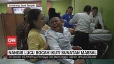 VIDEO: Nangis Lucu Bocah Ikuti Sunatan Massal