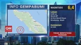 VIDEO: Gempa 6,4 Magnitudo Guncang Sinabang Aceh