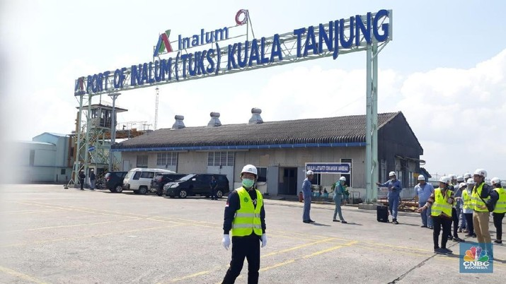 Pabrik Peleburan Alumunium Inalum, Kuala Tanjung, Sumatera Utara (CNBC Indonesia/Ferry Sandi)
