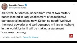 VIDEO: Cuitan Trump Pasca Serangan Roket Iran