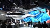 Hyundai S-A1 merupakan mobil terbang untuk masyarakat yang bermukim di perkotaan. Kendaraan ini disebut sebagai solusi berkendara di masa depan. (Photo by Robyn Beck / AFP)
