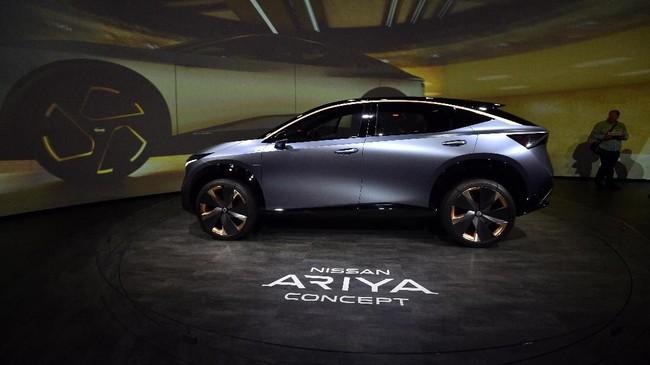 Nissan Ariya di CES 2020. Mobil ini menyimpan teknologi otonom (bergerak otomatis). (David Becker/Getty Images/AFP)