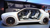 Fiat Chrysler (FCA) menampilkan mobil konsep Vision Airflow di Consumer Electronics Show (CES) 2020. (Photo by Robyn Beck / AFP)