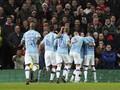 Man City Unggul 3-0 atas MU di Babak Pertama Piala Liga