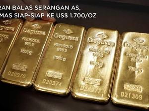 Iran Balas Serangan AS, Emas Siap-siap ke US$ 1.700/Oz