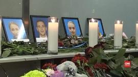 VIDEO: Penghormatan untuk Korban Pesawat Jatuh di Iran