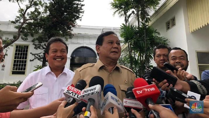 Demikian disampaikan Prabowo di Kompleks Istana Kepresidenan, Jakarta.