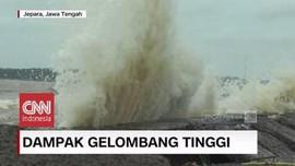 VIDEO: Gelombang Tinggi di Perairan Jepara