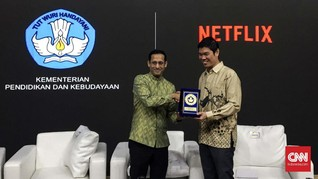 Nadiem Beberkan Alasan Kerja Sama dengan Netflix