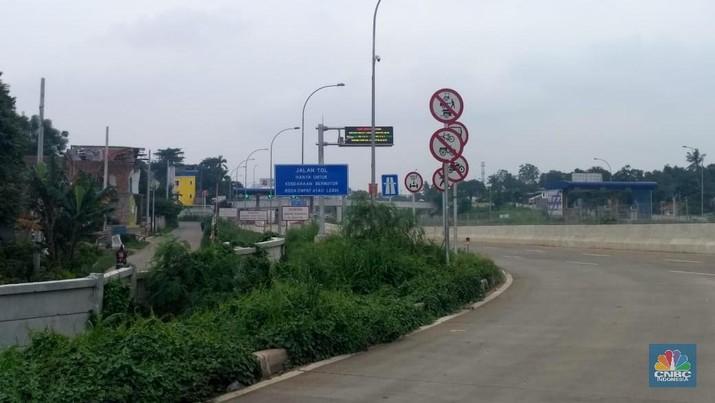 Proyek Jalan Tol Cijago (CNBC Indonesia/Muhammad Choirul Anwar)