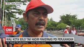 VIDEO: Wali Kota Solo Tak Hadiri Rakernas PDI Perjuangan